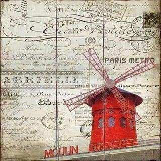 Paris Windmill Plaque