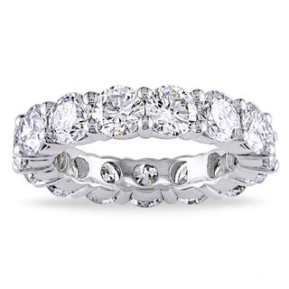 White Gold Plated Luxury CZ Eternity Band