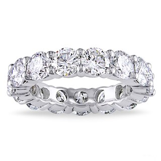 White Gold Plated Luxury CZ Eternity Band (5 options available)