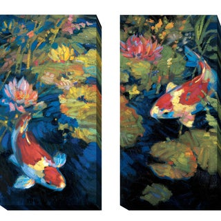 Asian Serenity I and II by Leif Ostlund 2-piece Gallery-Wrapped Canvas Giclee Art Set