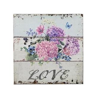 Love Flowers Plaque