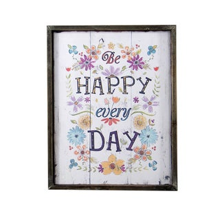 Happy Every Day Plaque
