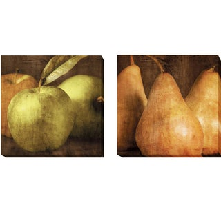 Apples and Pears by Caroline Kelly 2-piece Gallery-Wrapped Canvas Giclee Art Set