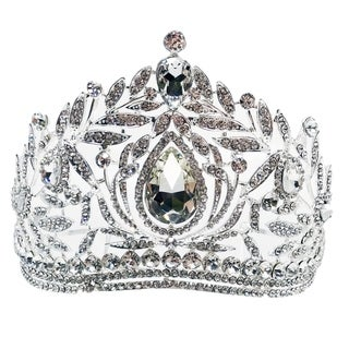 The Tear of Joy Rhinestone Tiara by Kate Marie
