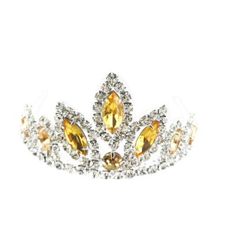 The Elementalist Rhinestone Tiara by Kate Marie (Option: Yellow)