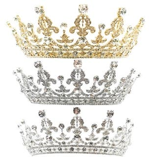 The Royal Highness Rhinestone Tiara by Kate Marie|https://ak1.ostkcdn.com/images/products/17828512/P24019539.jpg?impolicy=medium