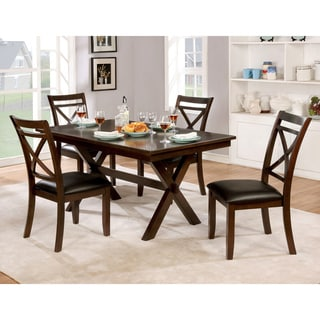Furniture of America Clevelan Transitional 5-piece Dark Cherry Dining Set
