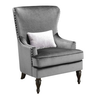 Furniture of America Sevi Glam Tufted Flannelette Wingback Chair (3 options available)