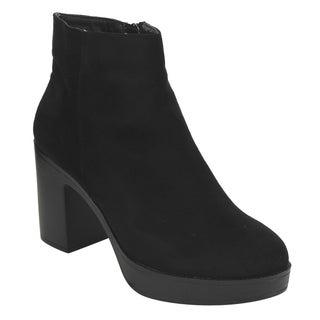 Beston EI89 Women's Side Zipper Platform Stacked Chunky Heel Ankle Booties (More options available)