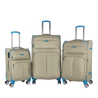 American Green Travel Heather 3-piece Softside Spinner Luggage Set