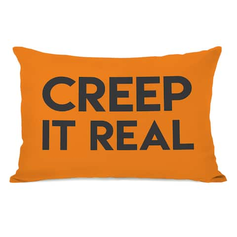 Creep It Real - Orange Throw Pillow by OBC