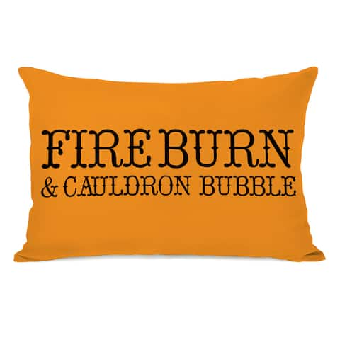 Fire Burn - Orange Throw Pillow by OBC