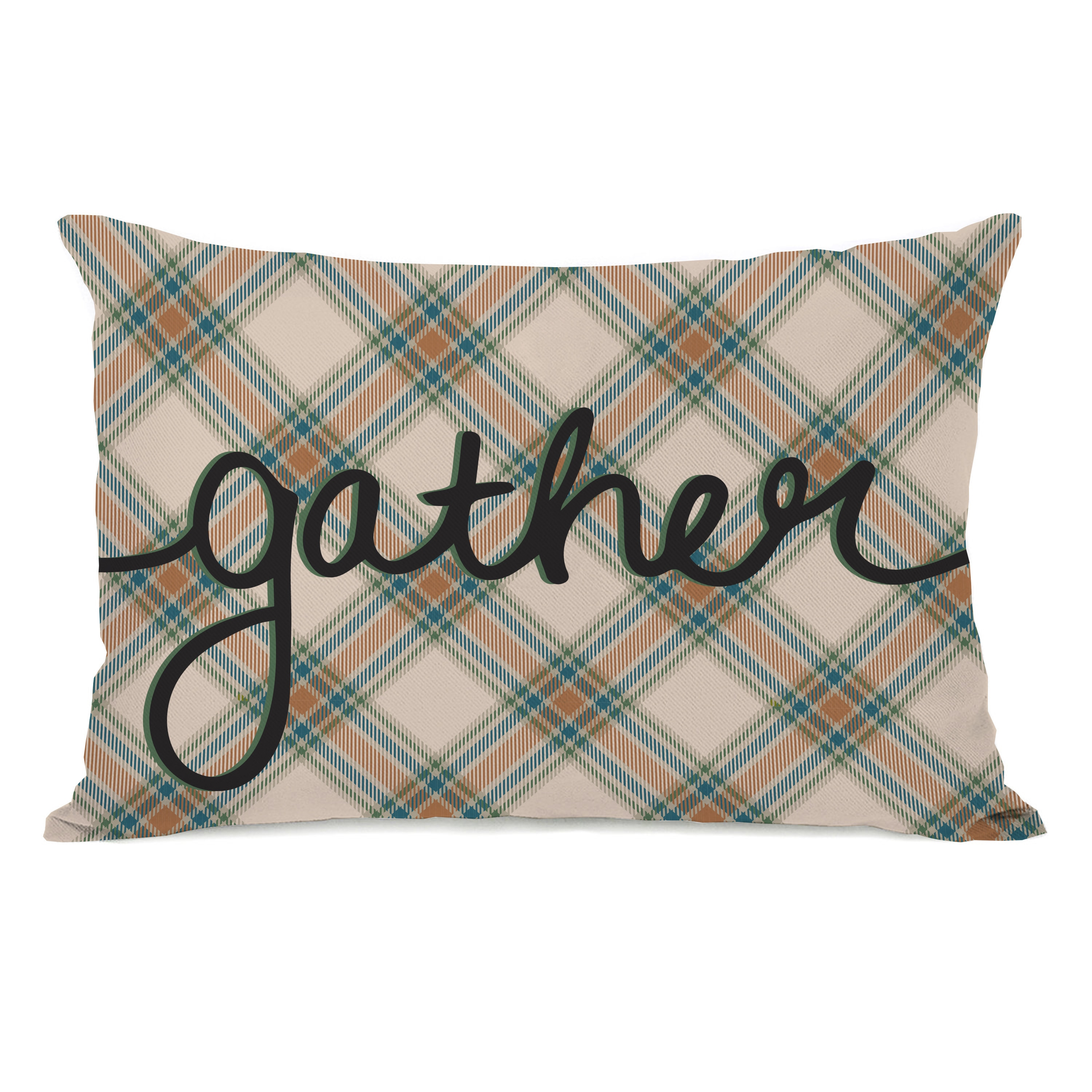 Plaid Gather Forest Green Throw Pillow By Obc Overstock 17829111