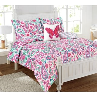 Watercolor Flutter 4pc Comforter set - Multi-color