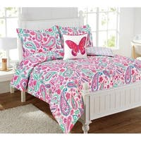 Watercolor Flutter 4-piece Comforter Set