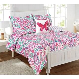 watercolor flutter 4pc comforter set multicolor