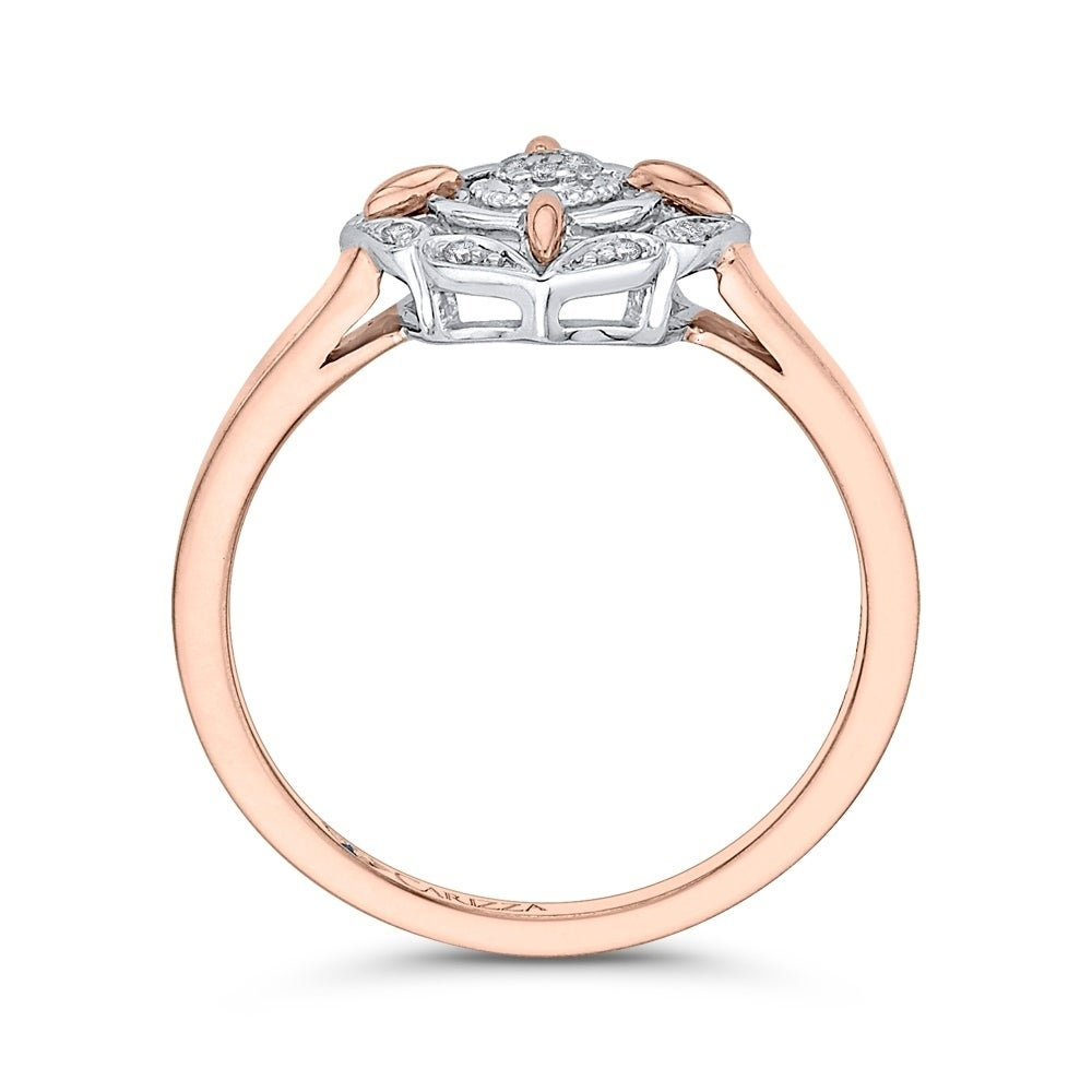 G-H,I2-I3 Size-12 1//10 cttw, Diamond Wedding Band in 10K Pink Gold