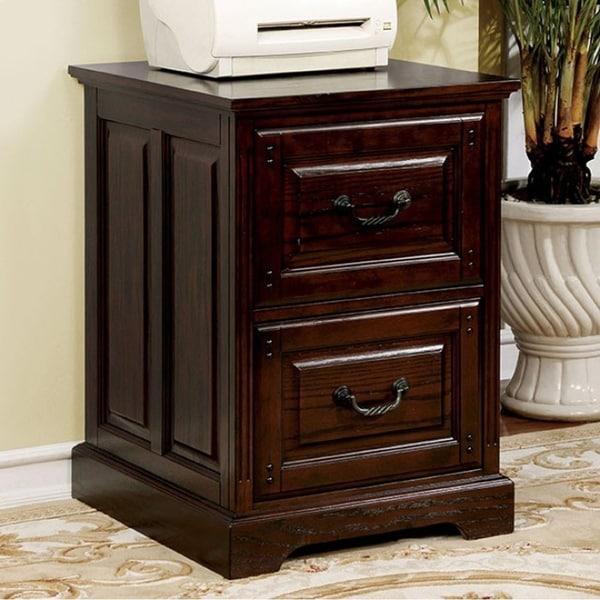 TAMI Transitional Style File Cabinet, Dark Walnut