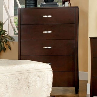 Midland Contemporary Chest, Brown Cherry