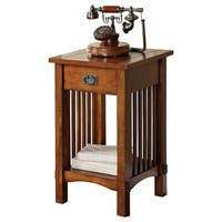 Valencia Iv Traditional Telephone Stand, Antiqued Oak Finish