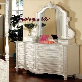 Pristine Fairy Tale Style Dresser, Pearl White