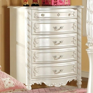 Alexandra Traditional Chest In Pearl White