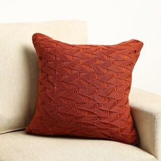 """100 Percent Cotton Knit Fishnet Pillow Cover 18""""x18"""""""