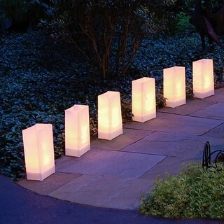 Electric LED Luminaria Kit- White (6 Count)