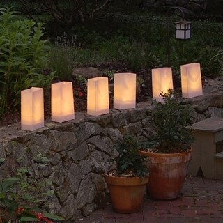 Electric LED Luminaria Kit- Tan (6 Count)