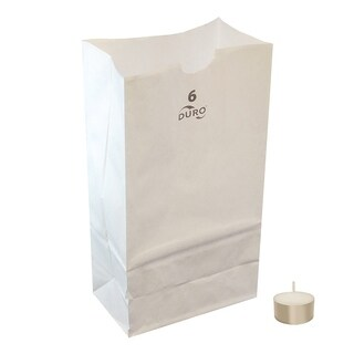 Neighborhood Luminaria Kit- 100 White Luminaria Bags, 100 Extended Burn Tea Lights