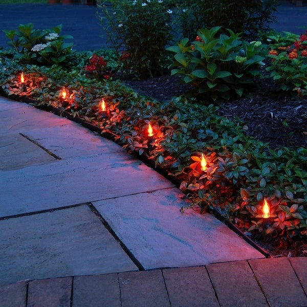 Shop Electric Pathway Lights Flickering Orange 10 Count  Free Shipping On Orders Over $45