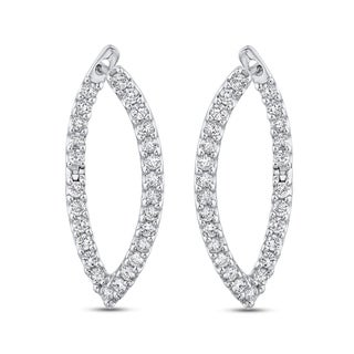 10K White Gold 1ct TDW Diamond Fashion Earring (G-H, I1-I2)