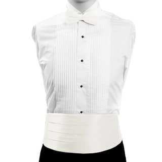 White Formal Men's Silk Cummerbund and Bow Tie Set https://ak1.ostkcdn.com/images/products/17832920/P24023389.jpg?impolicy=medium