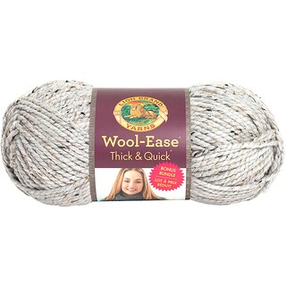 Wool-Ease Thick & Quick Bonus Bundle Yarn-Grey Marble