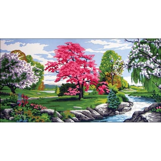 """Needleart World Needlepoint Printed Canvas 16""""X24""""-Spring Time"""