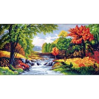"Needleart World Needlepoint Printed Canvas 16""X24""-Autumn Time"