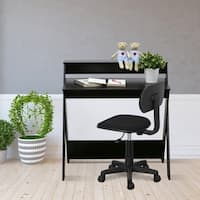 Furinno Modern Simplistic Criss-Crossed Home Office Study Desk, Espresso