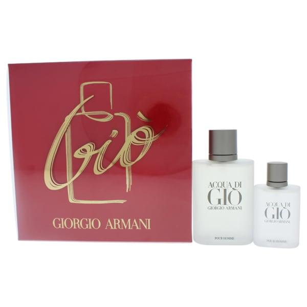 15a6dc7f12f6 Shop Acqua di Gio Giorgio Armani Men s 2-piece Gift Set - Free Shipping  Today - Overstock - 17833071