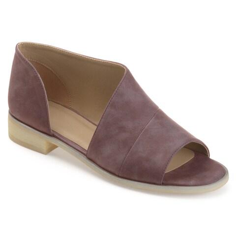 Journee Collection Women's 'Nakita' Asymmetrical D'orsay Open-toe Flats