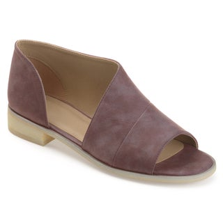 Journee Collection Women's 'Nakita' Asymmetrical D'orsay Open-toe Flats (More options available)