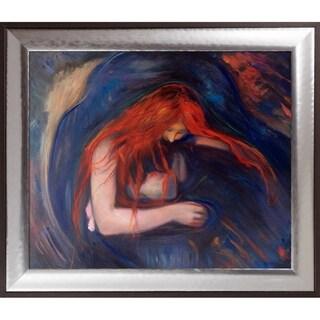Edvard Munch 'Vampire, 1895' Hand Painted Oil Reproduction