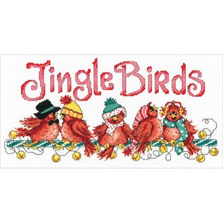 """Jingle Birds Counted Cross Stitch Kit-7""""X13.5"""" 14 Count"""