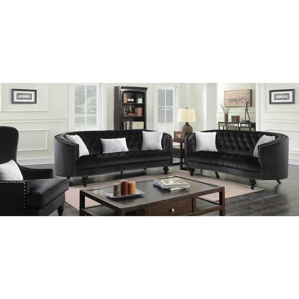 Outstanding Shop Sevi Glam 3 Piece Tufted Sofa Set By Foa On Sale Creativecarmelina Interior Chair Design Creativecarmelinacom