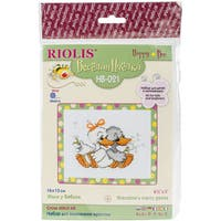 """Grandma's Merry Geese Counted Cross Stitch Kit-6.5""""X5.25"""" 10 Count"""
