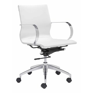 Fine Mod Imports Modern Conference Office Chair Mid Back, White