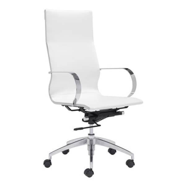 Fine Mod Imports Modern Conference Office Chair High Back, White
