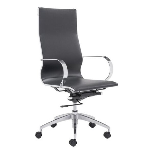 Fine Mod Imports Modern Conference Office Chair High Back, Black