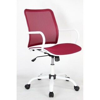 Fine Mod Imports Spare Office Chair, Red