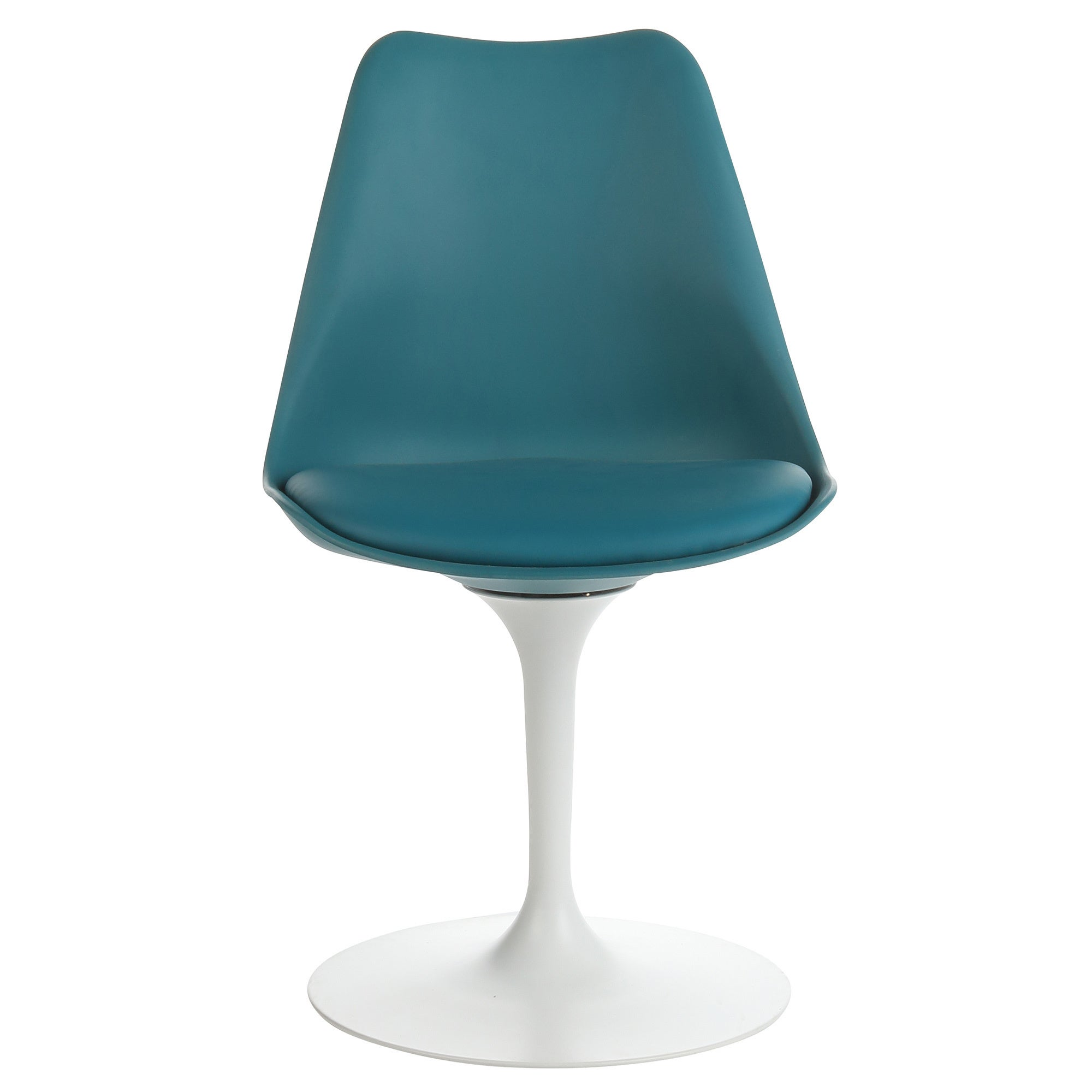 Fabulous Handmade Mid Century Modern Tulip Teal Swivel Chair Caraccident5 Cool Chair Designs And Ideas Caraccident5Info