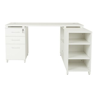 Prado L-Shape Corner Office Workstation with Storage (2 options available)